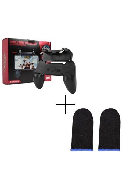 Pubg Siyah  Telefon Oyun Konsolu Parmak Eldiven Full Gamer Set W10