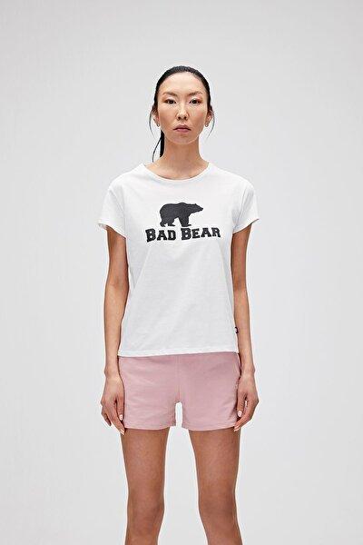 Kadın Kırık Beyaz Tişört Logo Tee