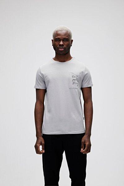 Erkek Beyaz Duman Panıc Basıc Tee T-Shirt