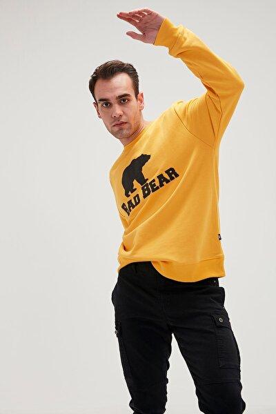 Crewneck Erkek Sweatshirt 20.02.12.011-mustard