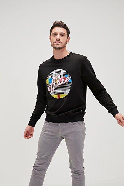 Offline Erkek Sweatshirt - Siyah