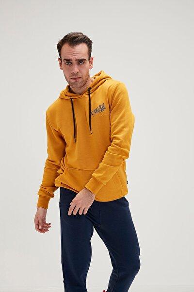 Erkek Sarı Sweatshirt