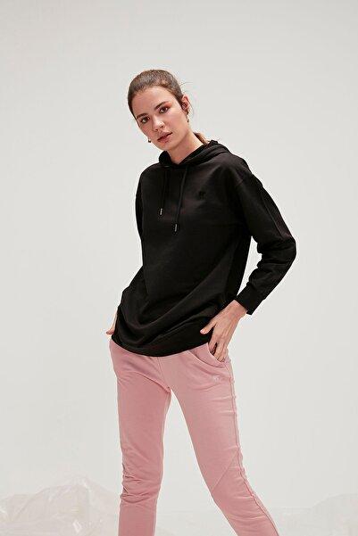 Kadın Siyah Eve Crop Sweatshirt