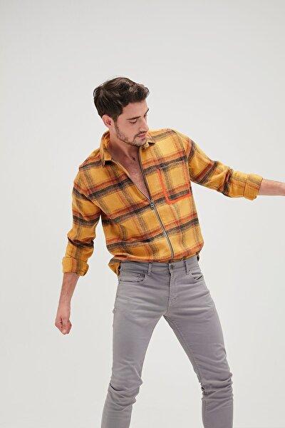 Erkek Pocket Shırt Mustard Gömlek