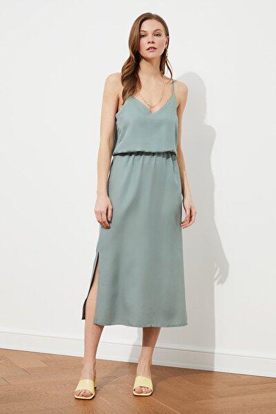 Haki Askılı Elbise TWOSS19EL0276