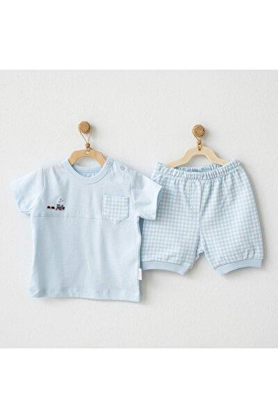 Erkek Bebek Mavi Şort Takım