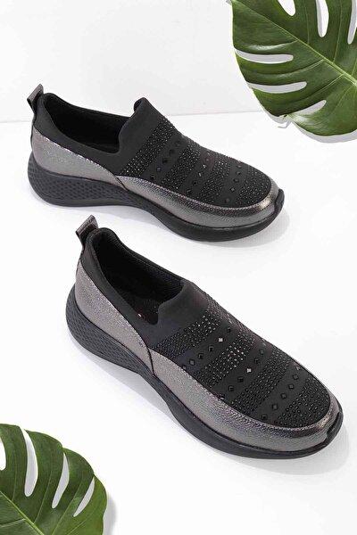 Siyah Platin Kadın Casual Ayakkabı K01839001209