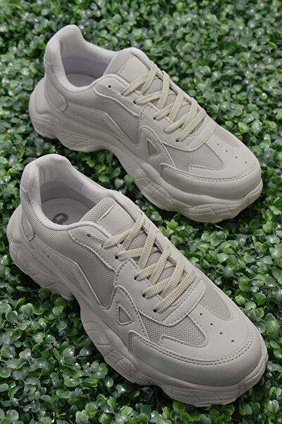 Bej Nubuk Kadın Sneaker K01876010071