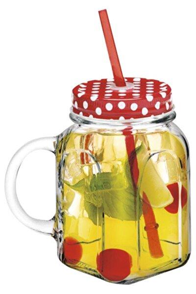 450 ml 2'li Kulplu Pipetli Limonata Bardağı