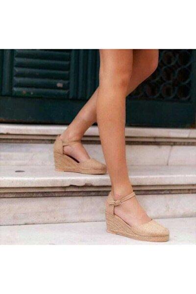 Dolgu Topuk Sandalet Hasır