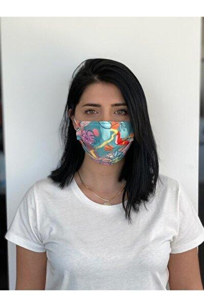 Desenli Baskılı Maske