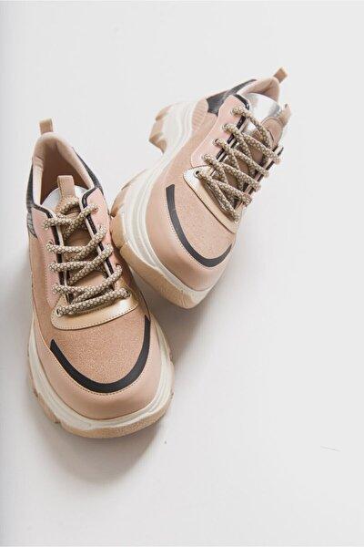 Kadın Vizon Multi Sneaker