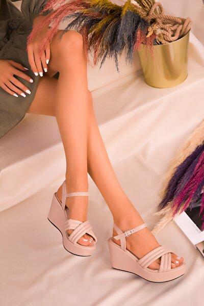 Ten Kadın Dolgu Topuklu Ayakkabı 16276