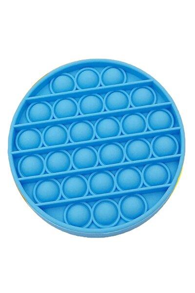 Pop It Push Bubble Fidget Özel Pop Duyusal Oyuncak Zihinsel Stres Mavi