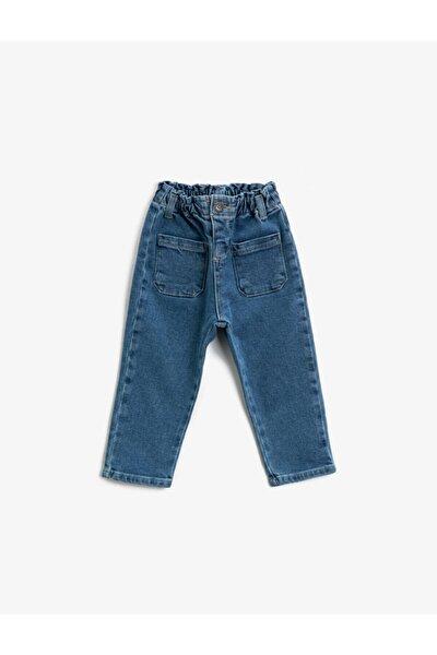 Kız Bebek Mavi Pantolon