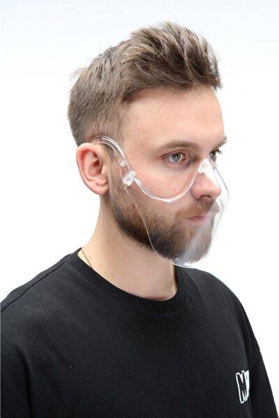 Erkek Kutulu Şeffaf Ağız Koruma Maskesi