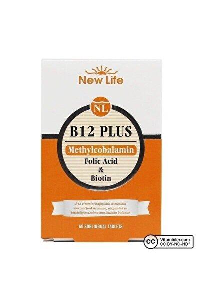 Newlife B12 Plus - 60 Dilaltı Tablet - B12 Vitamini, Folik Asit