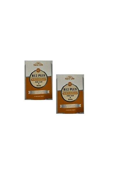 Newlife B12 Plus - 60 Dilaltı Tablet *2 Adet-b12 Vitamini, Folik Asit Skt:12.2022