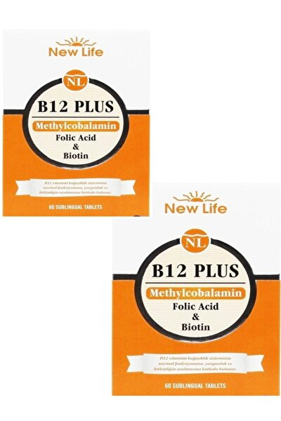 B12 Plus Dilaltı 60 Tablet 2'li Paket
