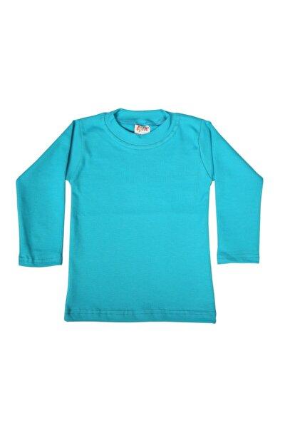 3-4 Yaş Likralı Çocuk T-shirt & Body Mavi