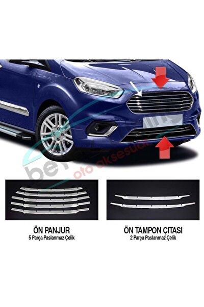 Ford Courier Ön Panjur Kromu Nikelaj 7 Parça 2018 Sonrası