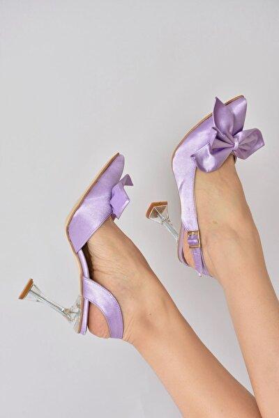 Kadın Lila Kumaş Cam Topuklu Ayakkabı K922295004