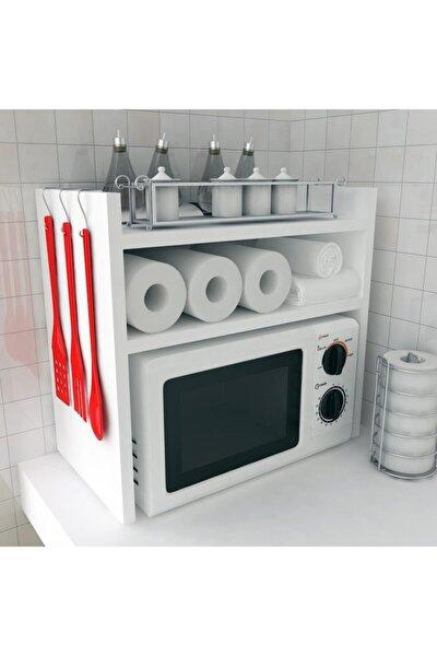 Mutfak Tezgah Üstü Mikrodalga Fırın Raf Dolap Düzenleyici Organizatör Toplayıcı