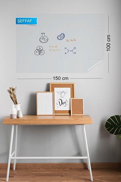 100x150 cm Şeffaf Yapışkansız Statik Tutunabilir Akıllı Kağıt Tahta 2 Adet