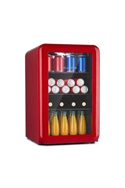 Poplife 65l Mini Buzdolabı Cam Kapaklı Minibar Kırmızı