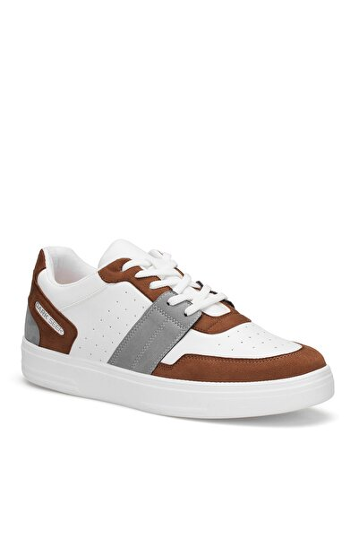 Beyaz Taba Erkek Sneaker