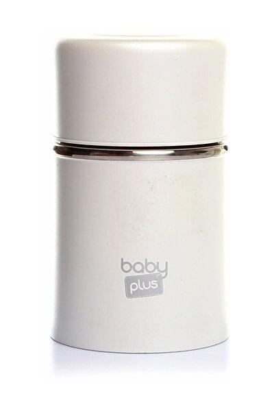Beyaz Paslanmaz Çelik Bebek Mama Saklama Termosu 260 ml