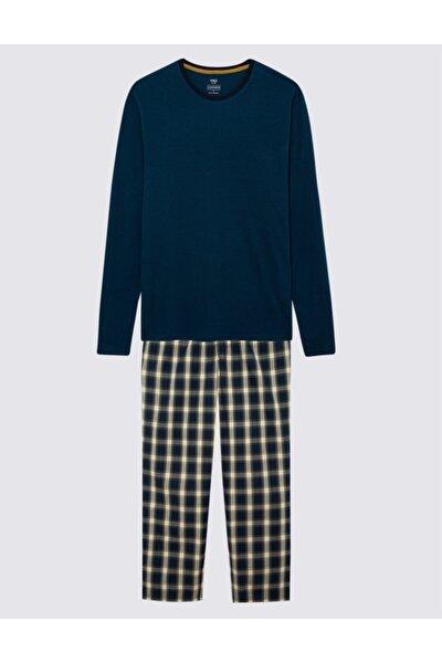 Erkek Yeşil Ekose Pijama Takımı T07003141I