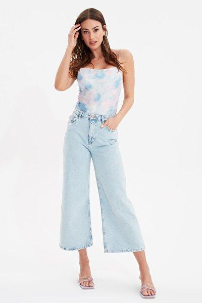Açık Mavi Yüksek Bel Culotte Jeans TWOSS21JE0725