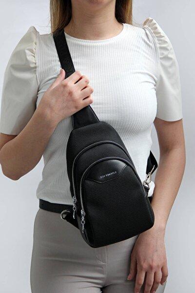 Sılver Polo Siyah Iki Bölmeli Kadın Bel Çantası Sp959