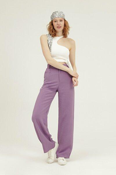 Kadın  Yüksek Bel Bol Paça Pantolon