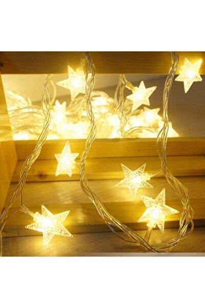 4,5 Pilli Dekoratif Yıldızlı Ip Led Işık - Yılbaşı Süs Ip Led Işık Günışığı