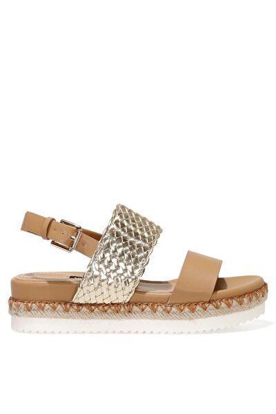 BROWNI 1FX Camel Kadın Kalın Tabanlı Sandalet 101029956