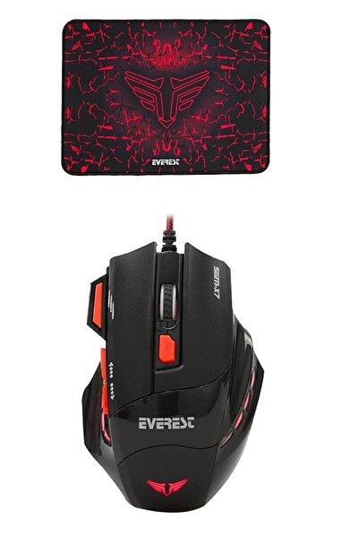 Sgm-x7 Siyah Usb Oyuncu Mouse+pad