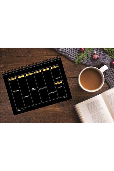 Haftalık Planlayıcı 13,5 X 19,5 Cm Weekly Planner Black Defter