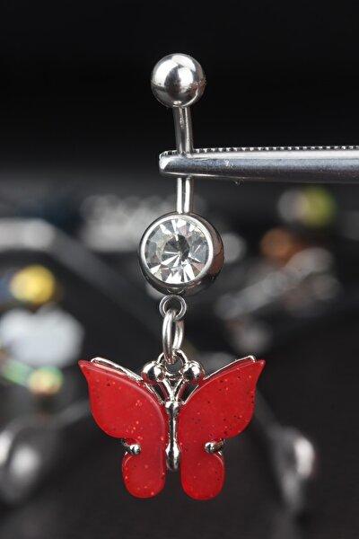 Çelik Kelebek Göbek Piercing