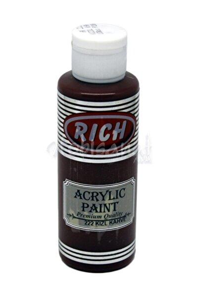 130ml Akrilik Boya No:222 Kızıl Kahve