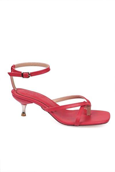 Kadın Kırmızı Capone Outfitters Metal Topuklu Sandalet