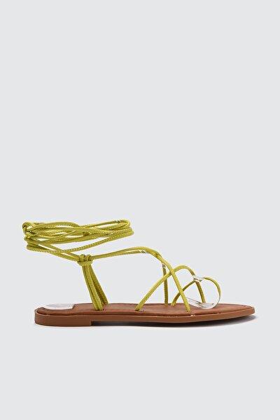 Yeşil Kadın Sandalet TAKSS21SD0027