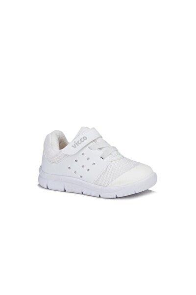 Unisex Bebek Beyaz İlk Adım Spor Ayakkabı