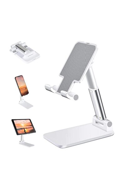 Masa Üstü Telefon Standı & Masa Üstü Tablet Standı Kademeli Yükseklik Ayarlı Telefon Tutucu Stand