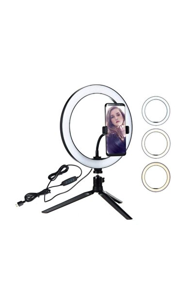 8'' Youtuber Makyaj Led Halka Işık Kuaför,make Up Ring Light Tripod Ayak