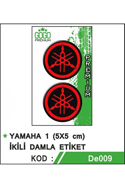 1 (5x5cm) Ikili Damla Etiket (de009)