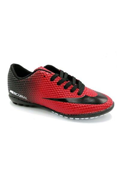 Erkek Kırmızı Halısaha Futbol Ayakkabısı