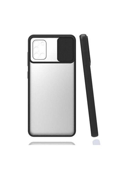 Galaxy M51 Slayt Kaydırmalı Kamera Korumalı Renkli Silikon Kılıf