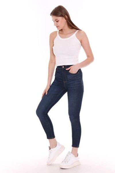 Kadın Larcivert Yüksek Bel Skıny Pantalon